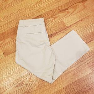Dalia Collection Modern Fit Beige Capri Pants